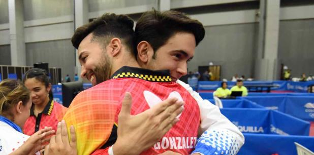 Los tenismesistas Brian Afanador y Daniel González sumaron otra medalla para Puerto Rico. (andre.kang@gfrmedia.com)
