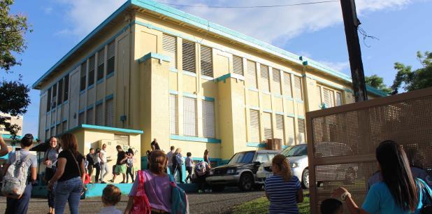 La escuela Manuel A. Barreto fue asignada como receptora de estudiantes de otros tres planteles: Theodore Rodevelt, Franklyn D. Roosevelt y la David G. Farragut. (Suministrada)