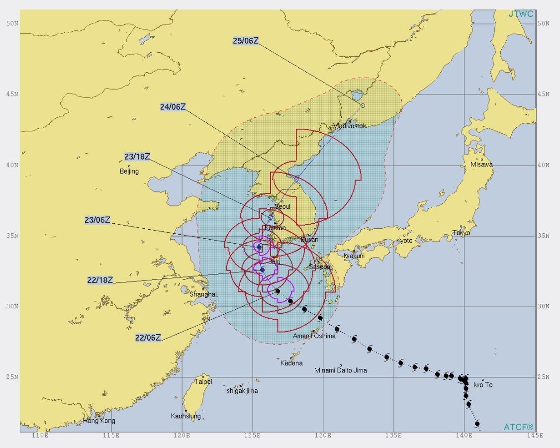 Corea del Sur en alerta por tifón Soulik