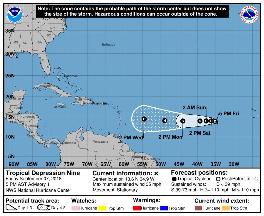 La tormenta tropical Florence se convierte en huracán