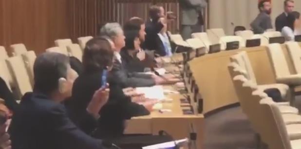 """La embajadora de Cuba ante la ONU Anayansi Rodríguez Camejo calificó la sesión como una """"farsa política"""" y como un nuevo capítulo en la larga lista de agresiones contra Cuba. (Captura)"""