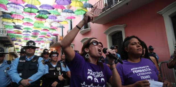 Las mujeres, claman porque el gobernador Ricardo Rosselló declare un estado de emergencia por violencia de género. (vanessa.serra@gfrmedia.com)