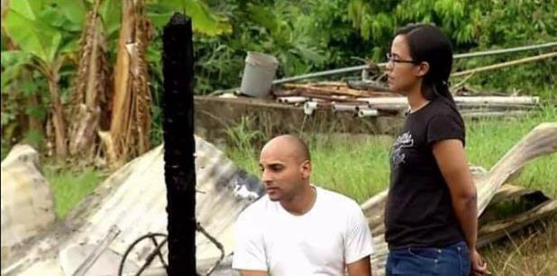 Cuando Orlando Albizu, el esposo de Rosado llegó de su trabajo -como policía municipal en Dorado- se encontró con el panorama desolador. (Suministrada)