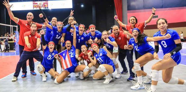 Puerto Rico celebra el pase a la final de la Copa Panamericana Sub18 y la clasificación al Mundial de la categoría. (Confederación Norceca)