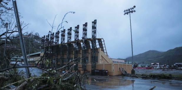 El huracán María destruyó muchas instalaciones deportivas. (Archivo)