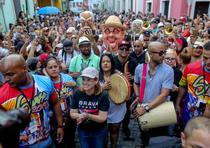Apertura oficial de las fiestas de la calle San Sebastián a cargo de la alcaldesa de San Juan, Carmen Yulín Cruz (david.villafane@gfrmedia.com)
