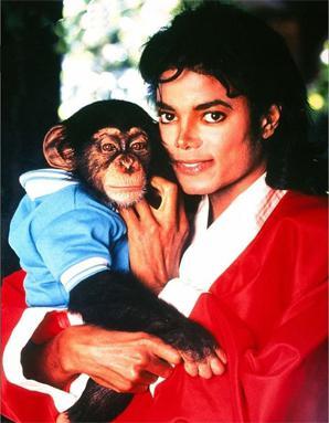 Resultado de imagen para michael jackson y chimpancé