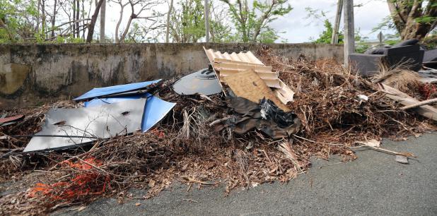 Los escombros, el material vegetativo y la basura doméstica tras el huracán hicieron crisis, no solo en Caguas sino en todo Puerto Rico. (Archivo)
