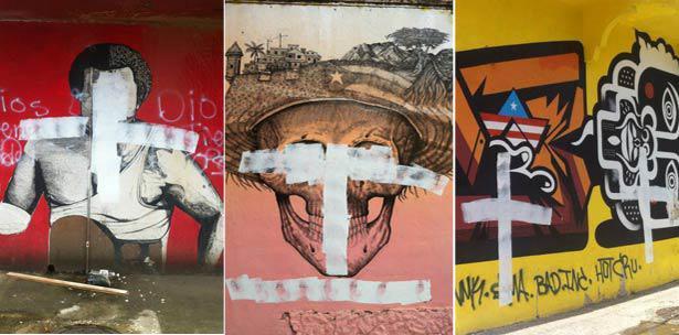 murales vandalizados en San Juan - foto primerahora.com
