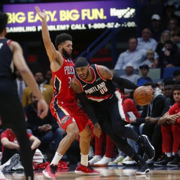 Los Pelicans estropean el debut de Carmelo Anthony con los Trail Blazers