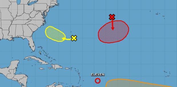 Se convierte en depresión tropical sistema al este de las Antillas