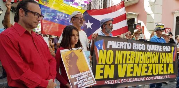 Se manifiestan en contra de la intervención de Rosselló en Venezuela