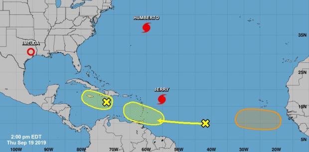 Centro de huracanes vigila tres áreas de posible desarrollo ciclónico