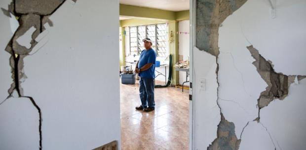 Siguen aumentando en Utuado las casas afectadas por terremotos